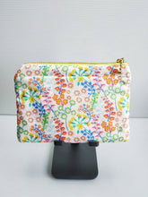 Load image into Gallery viewer, Floral Liberty zip pouch