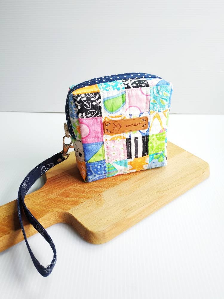 Square patchwork Sanitary Pad zip pouch