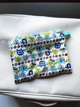 Load image into Gallery viewer, Elephant blue double zipper pouch