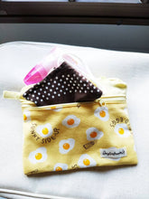 Load image into Gallery viewer, Egg double zipper pouch