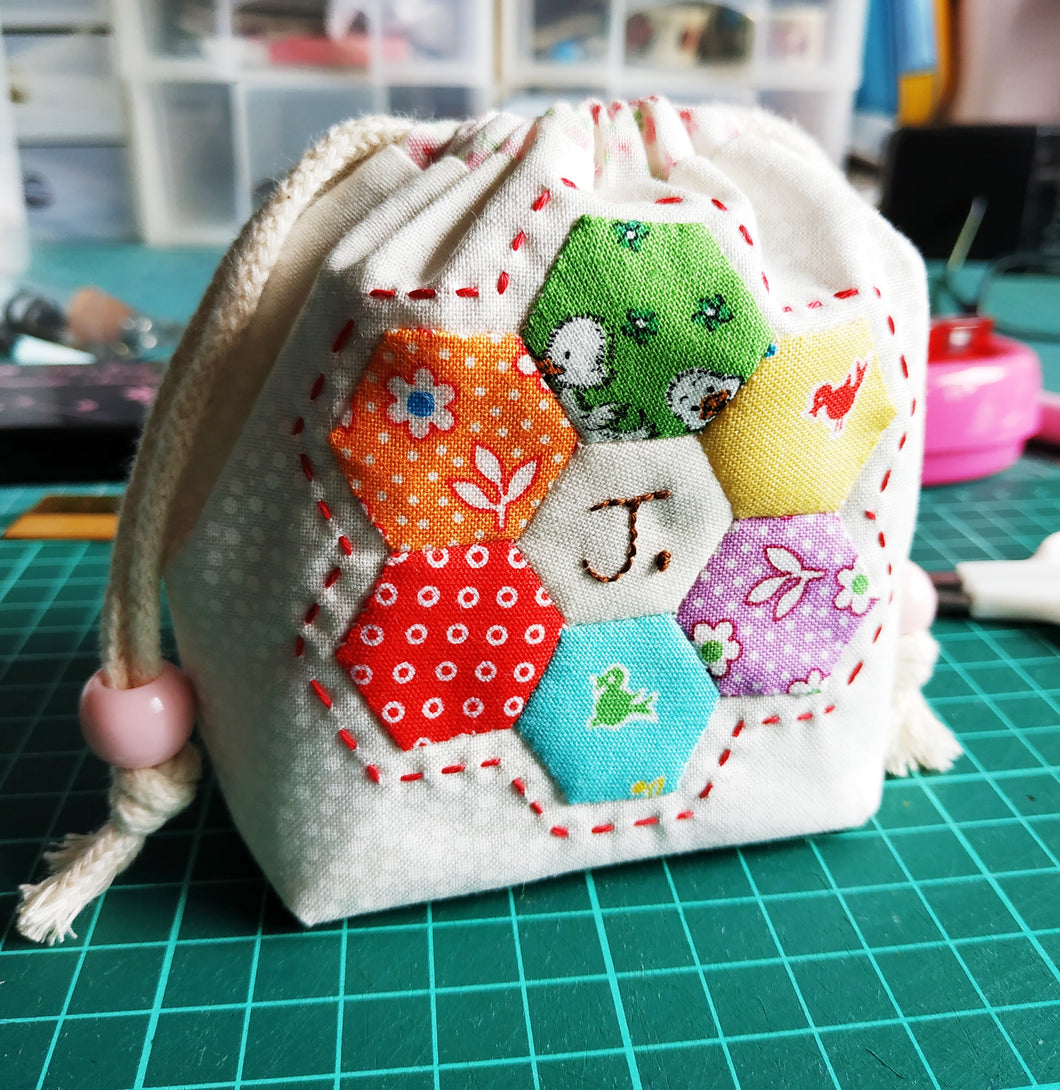 English Paper Piercing Workshop - Drawstring Bag