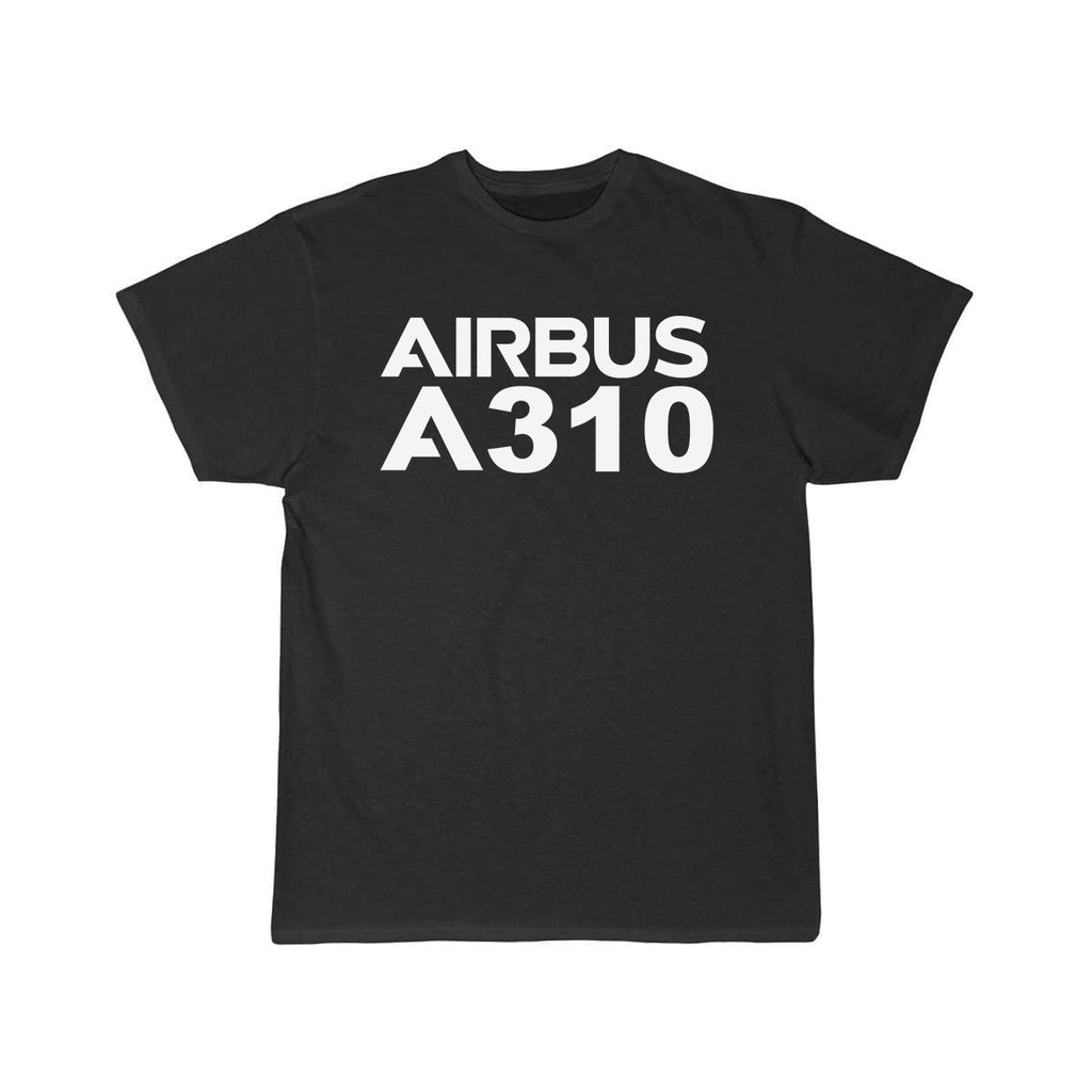 AIRBUS A310 DESIGNED T SHIRT - Black / S - T-shirts