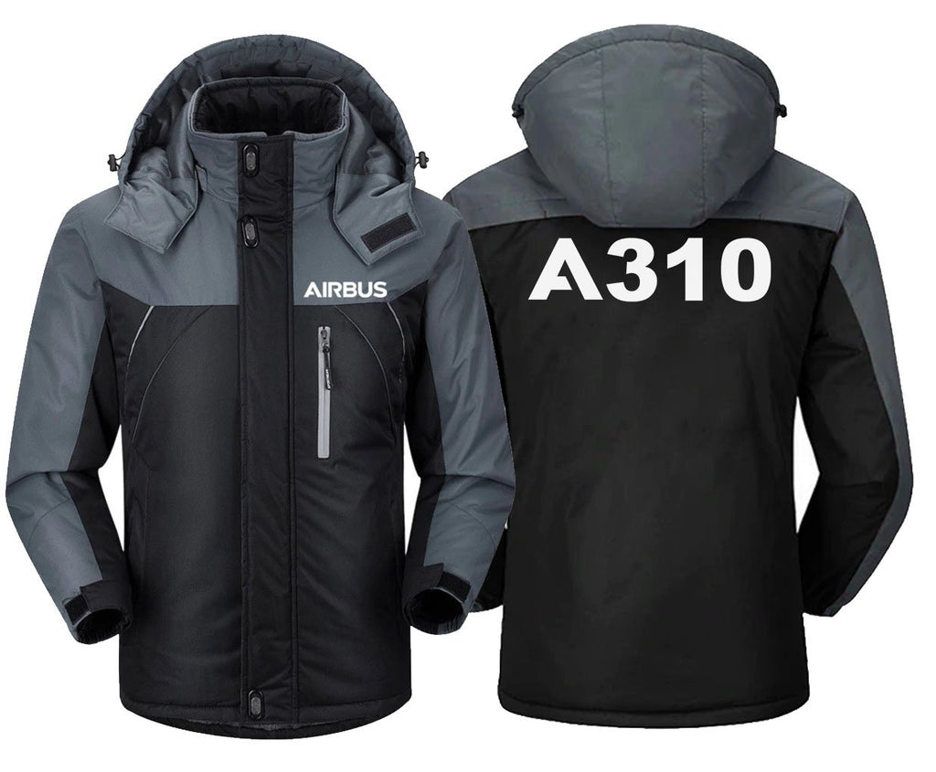 AIRBUS A310 DESIGNED WINDBREAKER - Black Gray / XS -