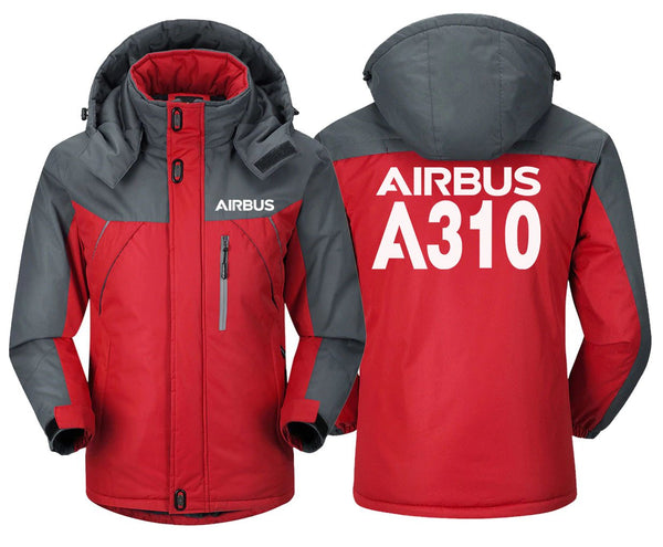 AIRBUS A310 DESIGNED WINDBREAKER - Red Gray / XS -