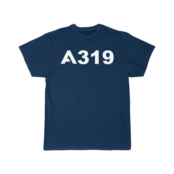 AIRBUS A319 DESIGNED T SHIRT - Navy / S - T-shirts