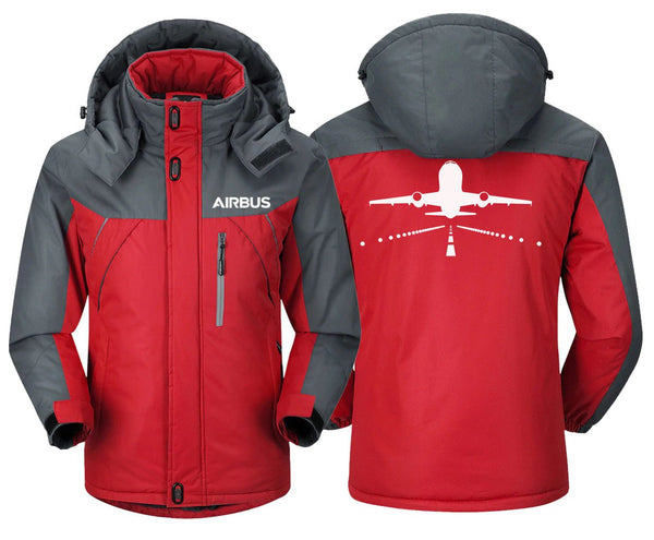 AIRBUS A319 DESIGNED WINDBREAKER - Red Gray / XS -