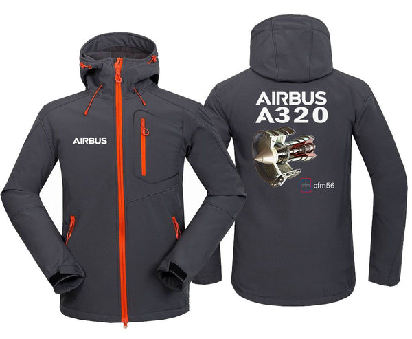AIRBUS A320 CFM56 DESIGNED FLEECE - Dark Gray / S - Hoodie