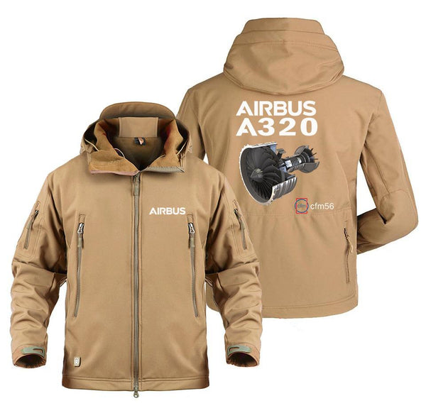 AIRBUS A320 CFM56 DESIGNED MILITARY FLEECE - Sand / S -