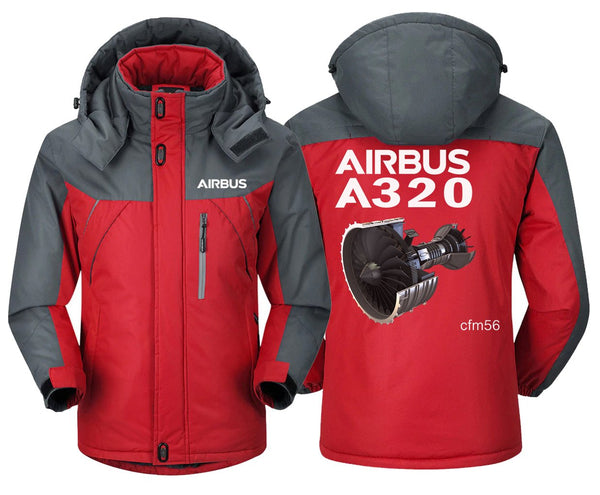 AIRBUS A320 CFM56 DESIGNED WINDBREAKER - Red Gray / XS -