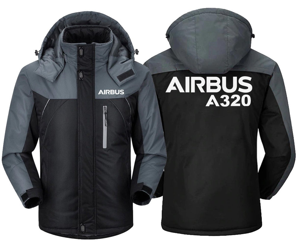 AIRBUS A320 DESIGNED WINDBREAKER - Black Gray / XS -