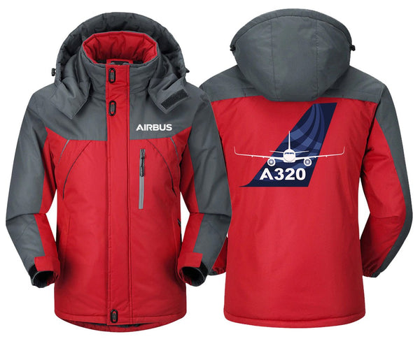 AIRBUS A320 DESIGNED WINDBREAKER - Red Gray / XS -