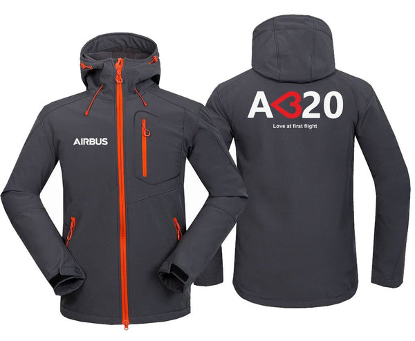 AIRBUS A320 LOVE AT FIRST FLIGHT DESIGNED FLEECE - Dark Gray