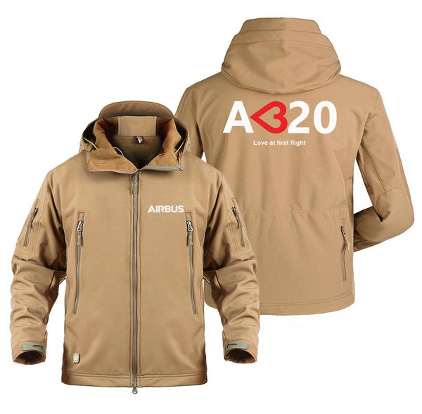 AIRBUS A320 LOVE AT FIRST FLIGHT DESIGNED MILITARY FLEECE -