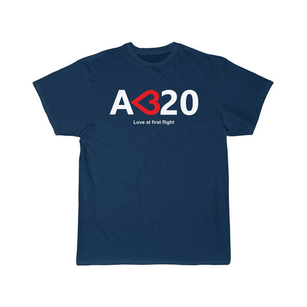 AIRBUS A320 LOVE AT FIRST FLIGHT DESIGNED T SHIRT - Navy / S