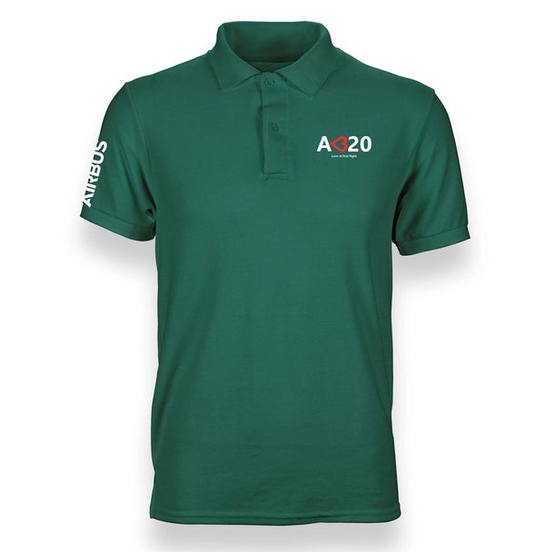 A320 LOVE AT FIRST FLIGHT POLO SHIRT - THE AV8R