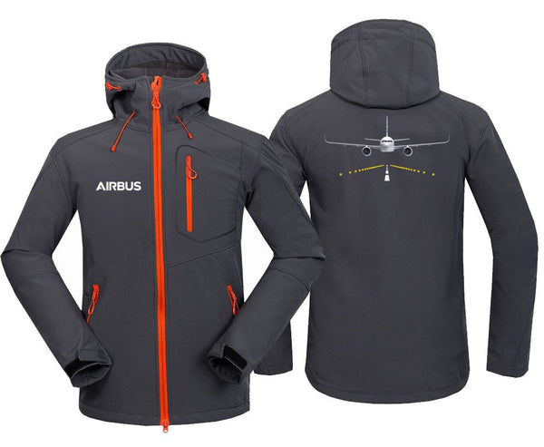 AIRBUS A320 RUNWAY DESIGNED FLEECE - Dark Gray / S - Hoodie