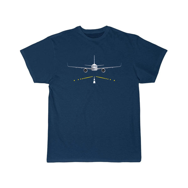AIRBUS A320 RUNWAY LIGHT DESIGNED T SHIRT - Navy / S -