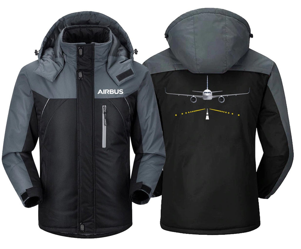 AIRBUS A320 RUNWAY LIGHT DESIGNED WINDBREAKER - Black Gray /
