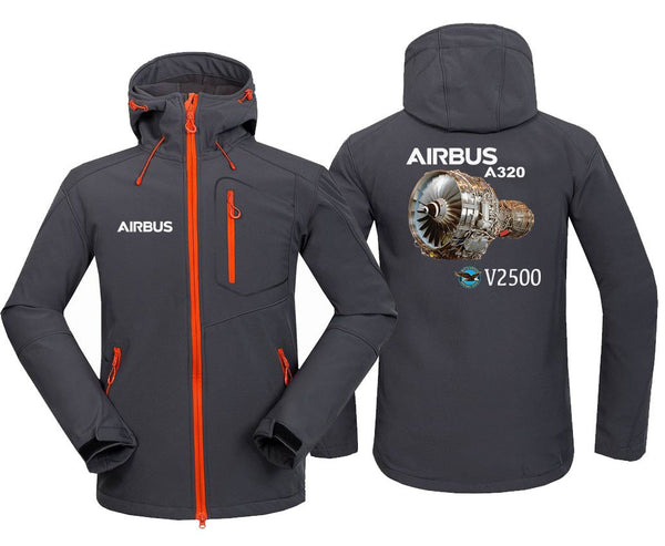 AIRBUS A320 V2500 DESIGNED FLEECE - Dark Gray / S - Hoodie