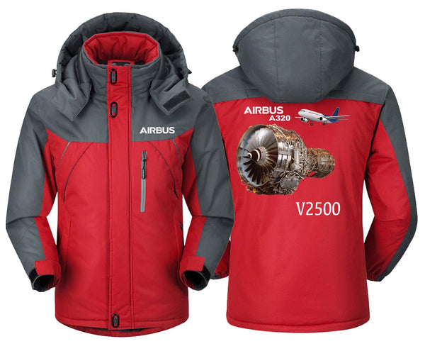 AIRBUS A320 V2500 DESIGNED WINDBREAKER - Red Gray / XS -