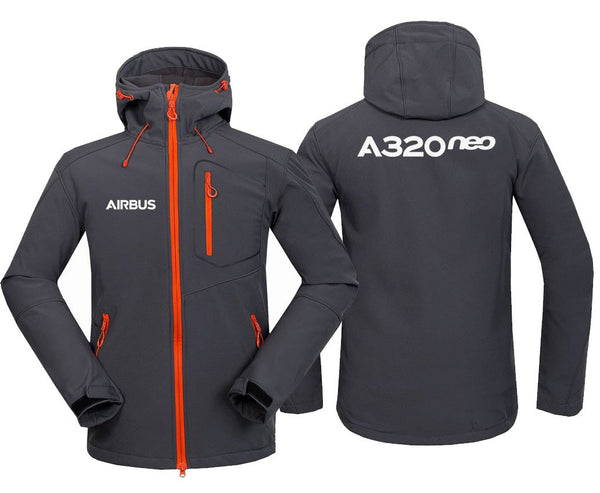 AIRBUS A320NEO DESIGNED FLEECE - Dark Gray / S - Hoodie