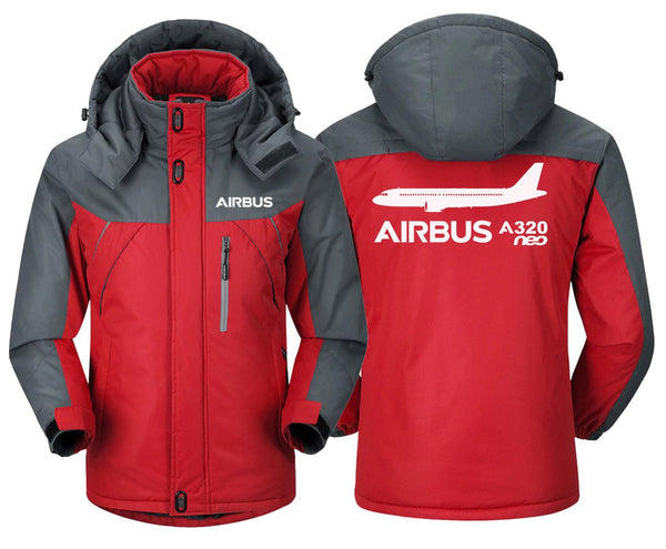 AIRBUS A320NEO DESIGNED WINDBREAKER - Red Gray / XS -
