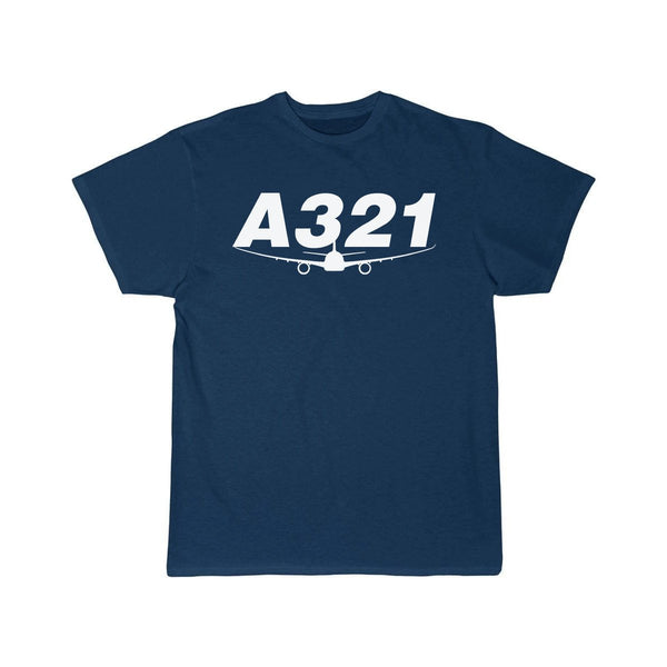 AIRBUS A321 DESIGNED T SHIRT - Navy / S - T-shirts