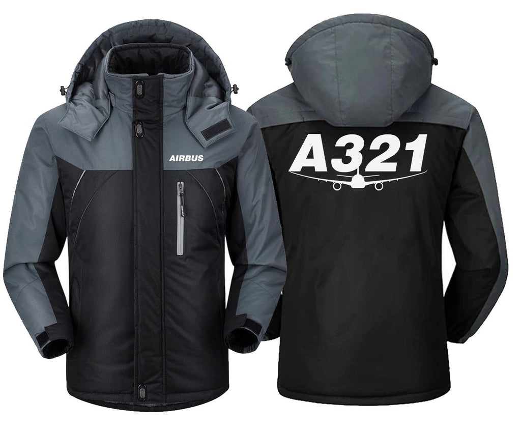 AIRBUS A321 DESIGNED WINDBREAKER - Black Gray / S -