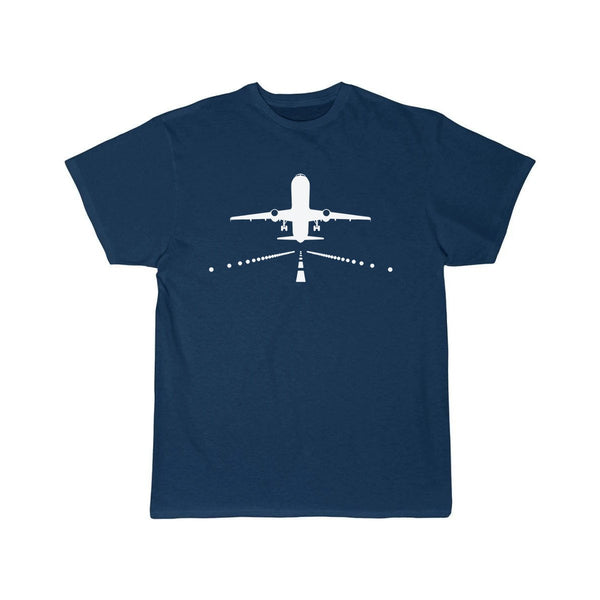 AIRBUS A321 RUNWAY DESIGNED T SHIRT - Navy / S - T-shirts
