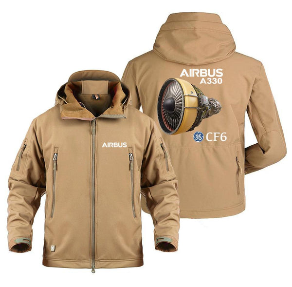 AIRBUS A330 CF6 DESIGNED MILITARY FLEECE - Sand / S -
