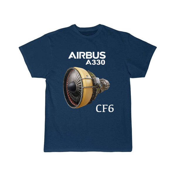 AIRBUS A330 CF6 DESIGNED T SHIRT - Navy / S - T-shirts