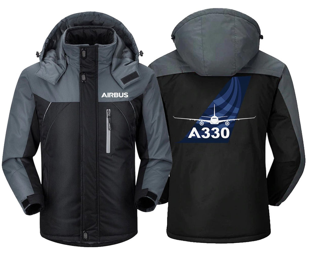 AIRBUS A330 DESIGNED WINDBREAKER - Black Gray / XS -