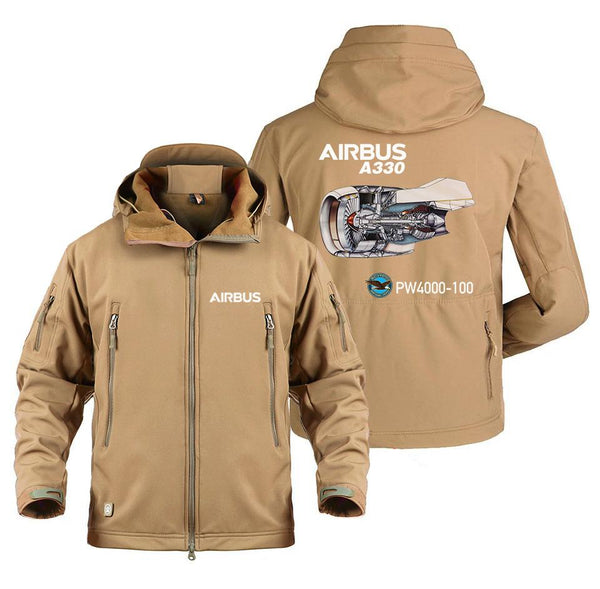 AIRBUS A330 PW000-100 DESIGNED MILITARY FLEECE - Sand / S -