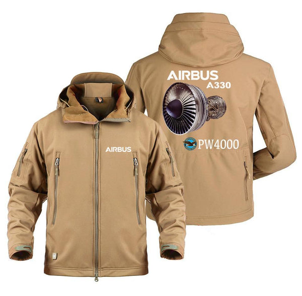 AIRBUS A330 PW4000 DESIGNED MILITARY FLEECE - Sand / S -