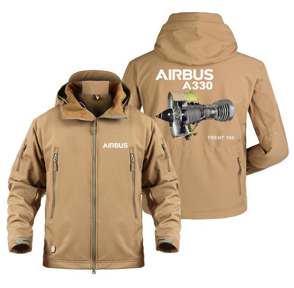 AIRBUS A330 TRENT 700 DESIGNED MILITARY FLEECE - Sand / S -