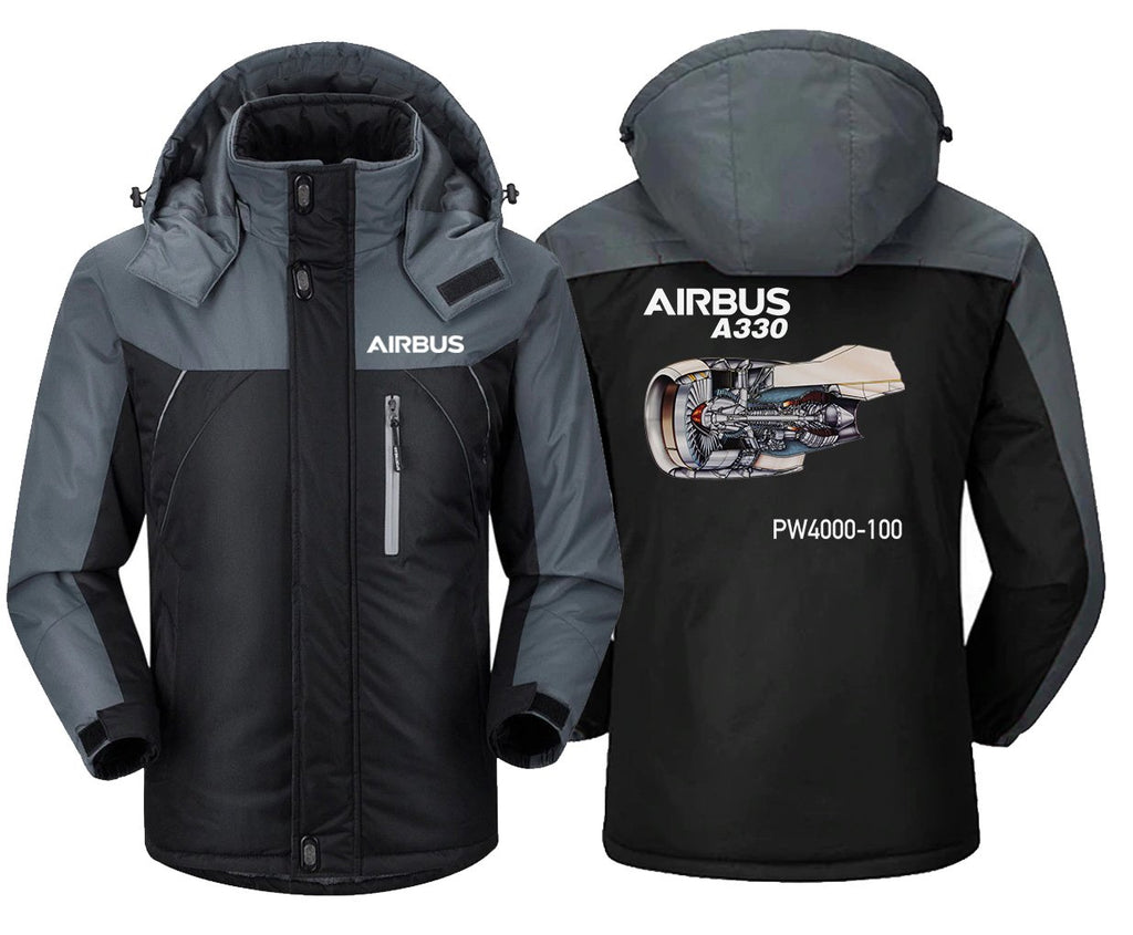 AIRBUS A330PW4000-100 DESIGNED WINDBREAKER - Black Gray / XS