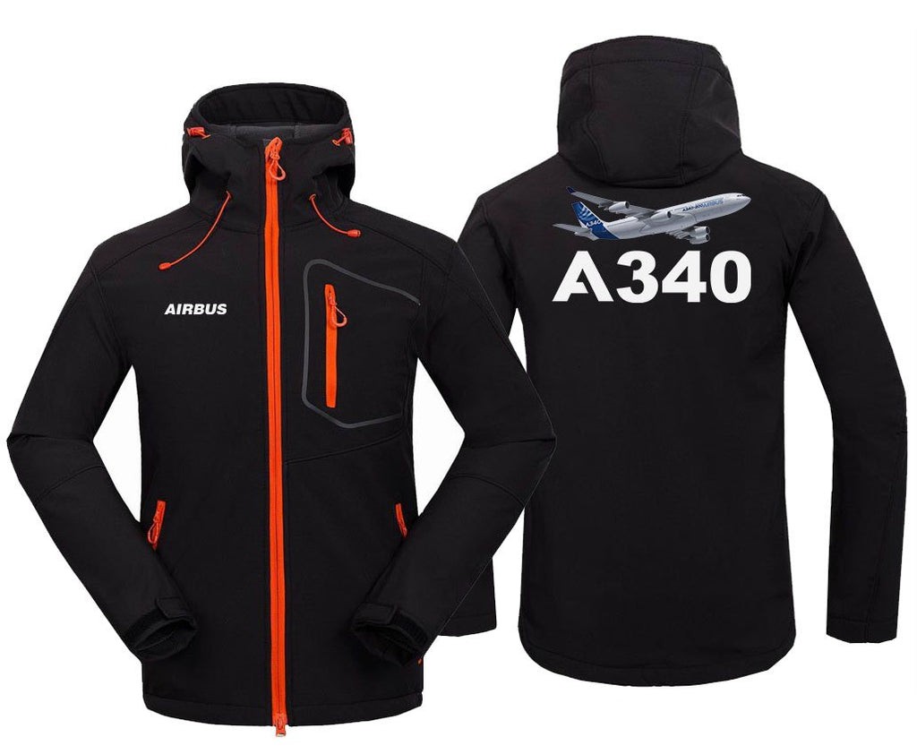 AIRBUS A340 DESIGNED FLEECE - Black / S - Hoodie Jacket