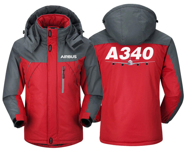 AIRBUS A340 DESIGNED WINDBREAKER - Red Gray / XS -
