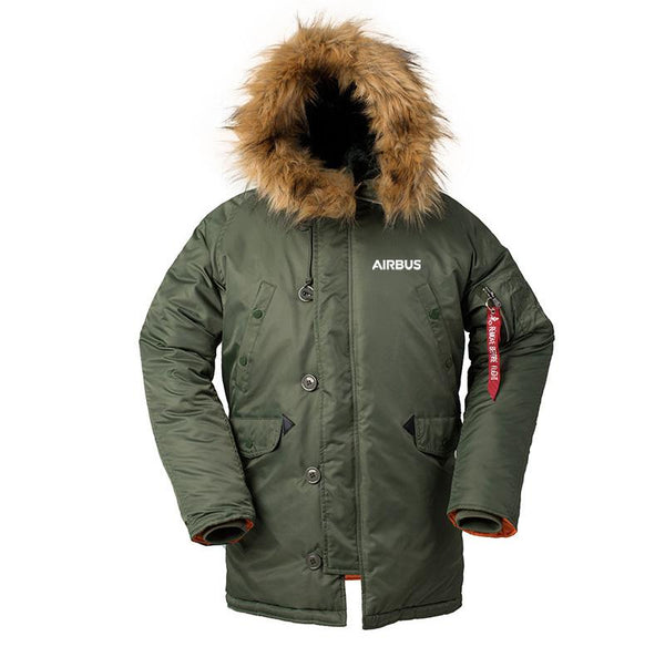 AIRBUS A340 DESIGNED WINTER N3B PUFFER COAT - N3B