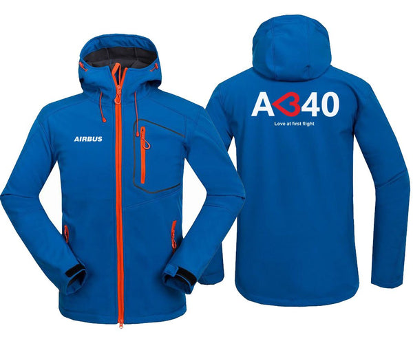 AIRBUS A340 LOVE AT FIRST FLIGHT DESIGNED FLEECE - Blue / S