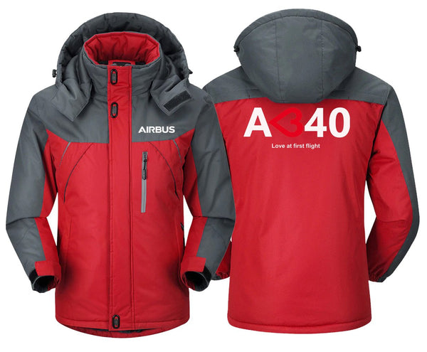 AIRBUS A340 LOVE AT FIRST FLIGHT DESIGNED WINDBREAKER - Red
