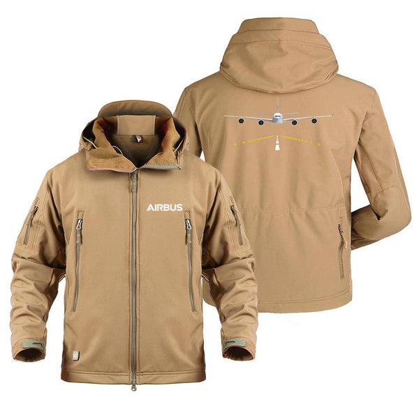 AIRBUS A340 RUNWAY DESIGNED MILITARY FLEECE - Sand / S -
