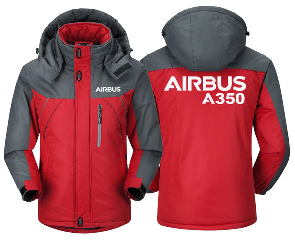 AIRBUS A350 DESIGNED WINDBREAKER - Red Gray / XS -