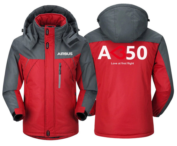 AIRBUS A350 LOVE AT FIRST FLIGHT DESIGNED WINDBREAKER - Red