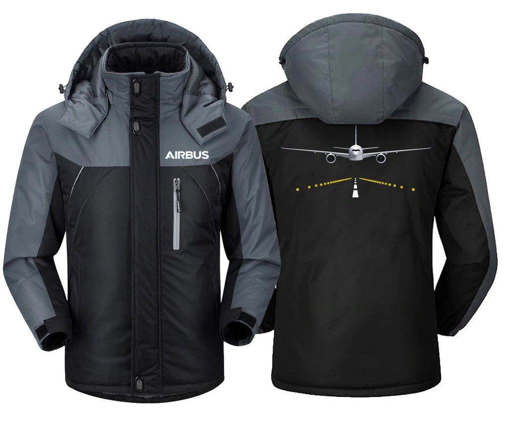 AIRBUS A350 RUNWAY LIGHT DESIGNED WINDBREAKER - Black Gray /