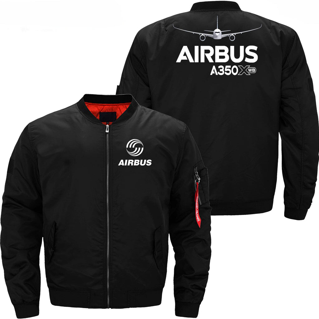 PilotX Jacket Black thin / XS Airbus A350Xwb with Aircraft