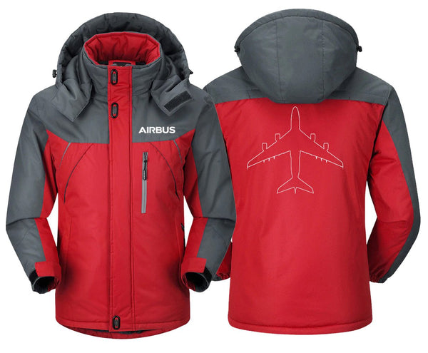 AIRBUS A380 DESIGNED WINDBREAKER - Red Gray / XS -