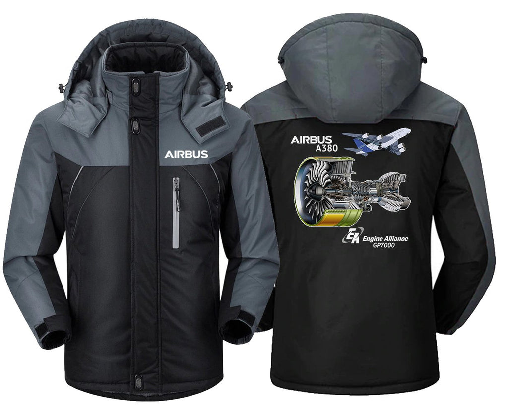 AIRBUS A380 GP 7000 DESIGNED WINDBREAKER - Black Gray / XS -