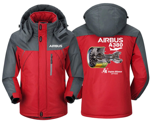 AIRBUS A380 GP 7000 DESIGNED WINDBREAKER - Red Gray / XS -