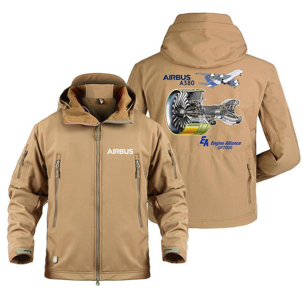 AIRBUS A380 GP7000 DESIGNED MILITARY FLEECE - Sand / S -